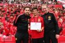 Polaznik jezicke mreze Verbalisti na zavrsetku skole fudbala i jezika Manchester Uniteda