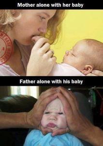 Majka i otac s bebom