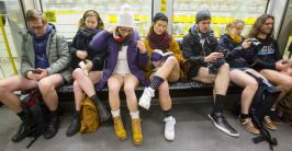 No Pants Subway Ride in Berlin