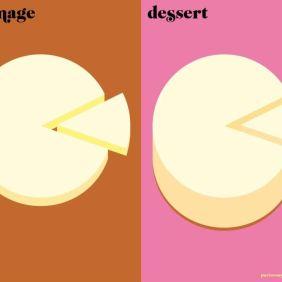 Paris vs New York, desert