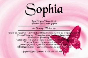 Sofija (Sophia) - najpopularnije žensko ime na svetu