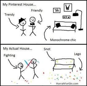Pinterest i stvarni dom jednog deteta