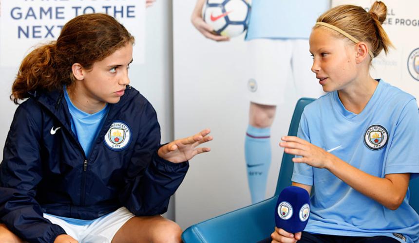 Manchester City skola fudbala za devojcice - konferencija za medije, Verbalisti