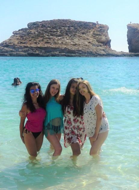 Maja, Mina, Milica i Aleksandra, Blue Lagoon, Malta