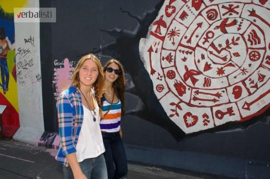 Verbalisti pored Berlinskog zida