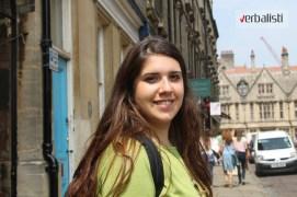 Polaznica jezicke mreze Verbalisti Mina u Oksfordu