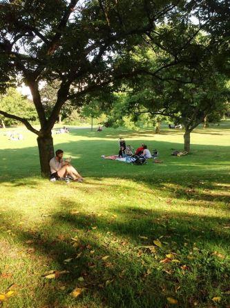 At Regents Park, London