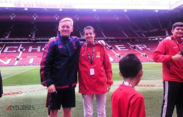 Slavko Apostolov at the famous Old Trafford stadium, Verbalists