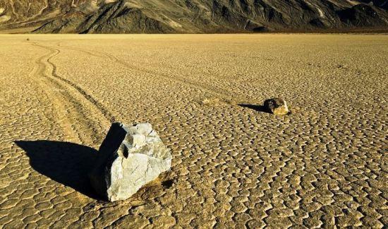 Sliding rocks of Death Valley