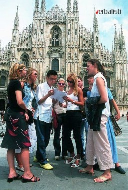 Afterclass activities include sightseeing, Verbalisti in Milano