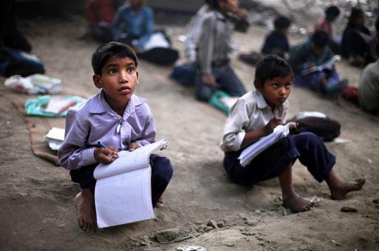children receiving free education