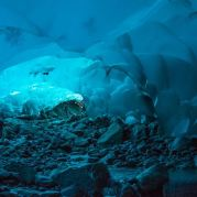 Mendenhall Ice Caves of Juneau in Alaska, United States