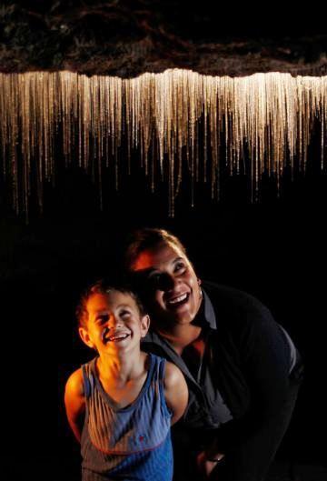 Glowworm Caves in Waitomo in New Zealand