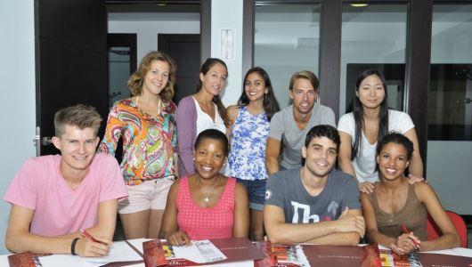 Verbalisti students in Spanish language school Don Quijote in Barcelona