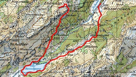The challenging walk from Wasserauen up to the Ebenalp