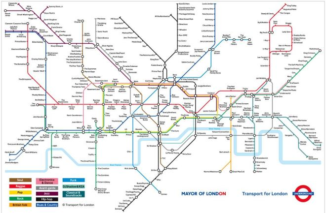 Map of London, Transport for London