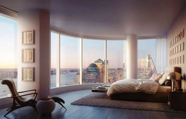 The tower at 432 Park Avenue, bedroom