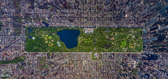 Central Park New York aerial view
