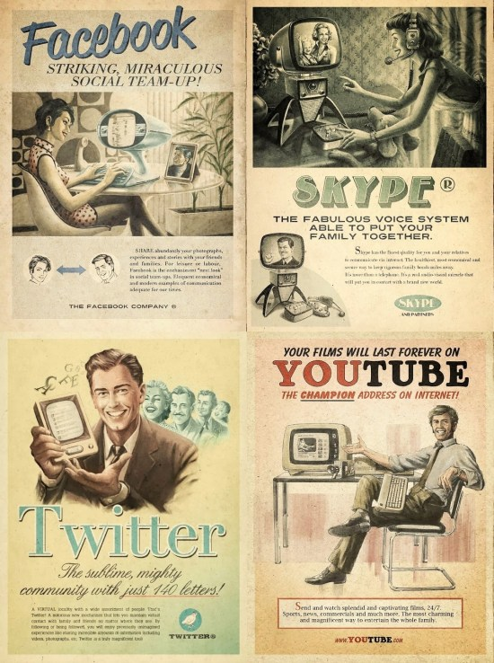 Social media vintage ads, Everything Ages Fast