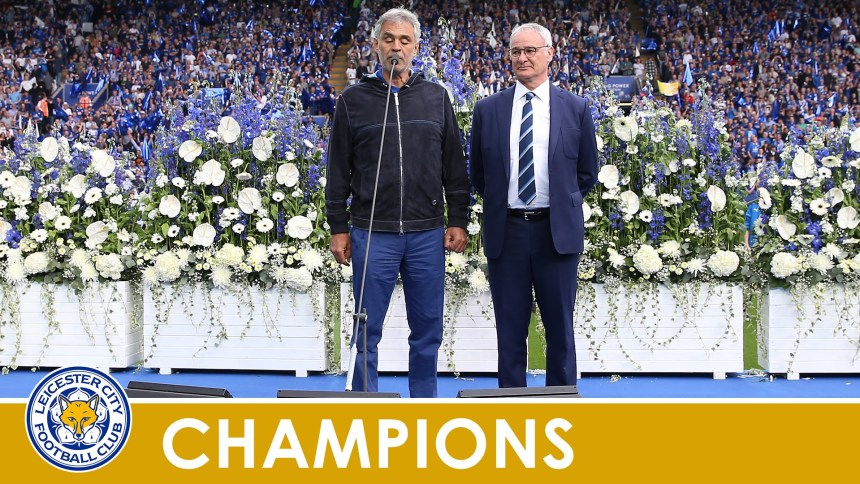 Andrea Bocelli sings Nessun Dorma at King Power Stadium