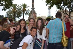 Andrea Manev with other students of Don Quijote
