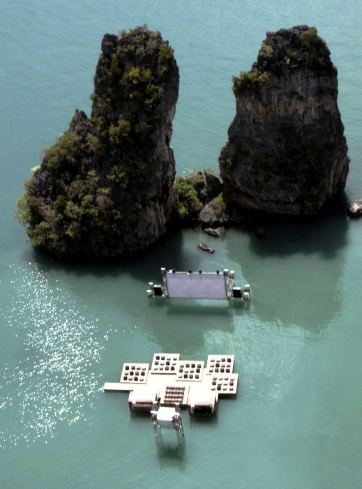 Archipelago Cinema by Ole Scheeren for Film on the Rocks Yao Noi, Thailand