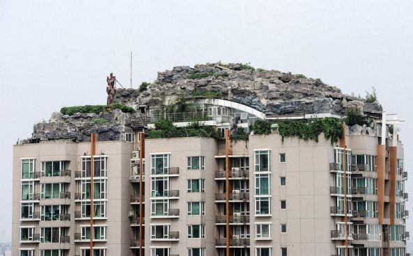 A villadom with rockeris in Beijing