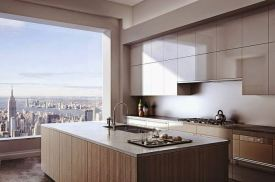 The tower at 432 Park Avenue, kitchen
