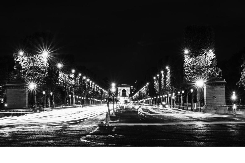 Walking down Champs Élysées