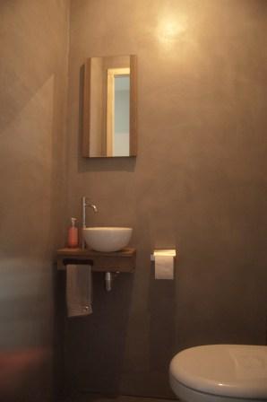 Toilet VERBAU betonstuc, kleur op maat