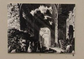 Disegno L. Guandaglia, Le Grotte di Catullo Aquatinta ( 1836-1838)