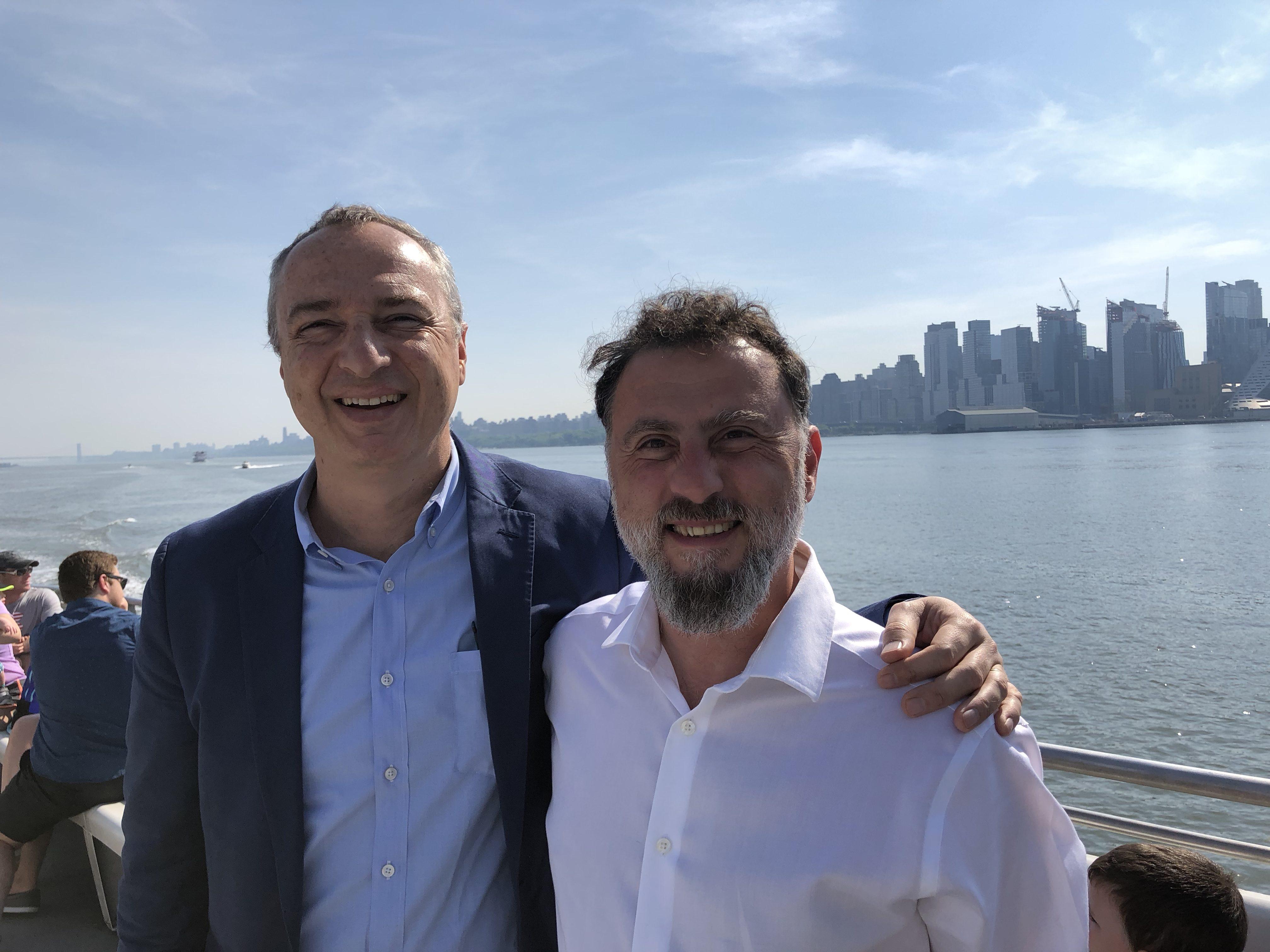 A PR man and a journalist