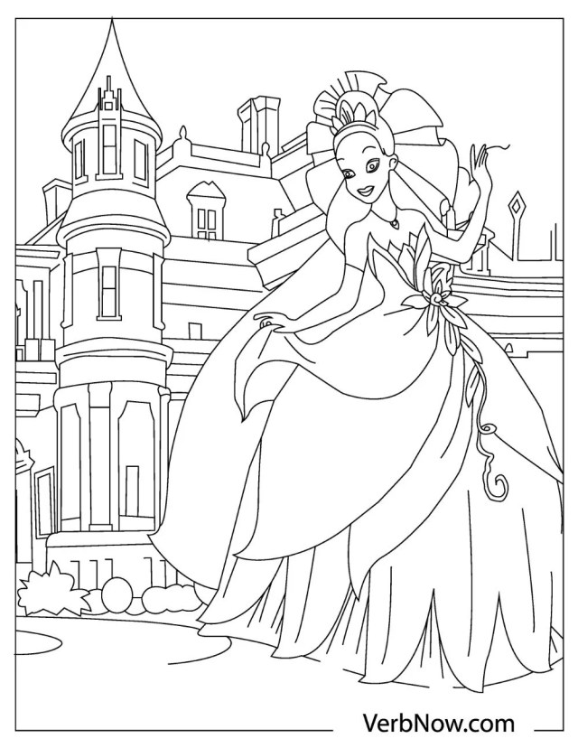 Free PRINCESS Coloring Pages for Download (PDF)