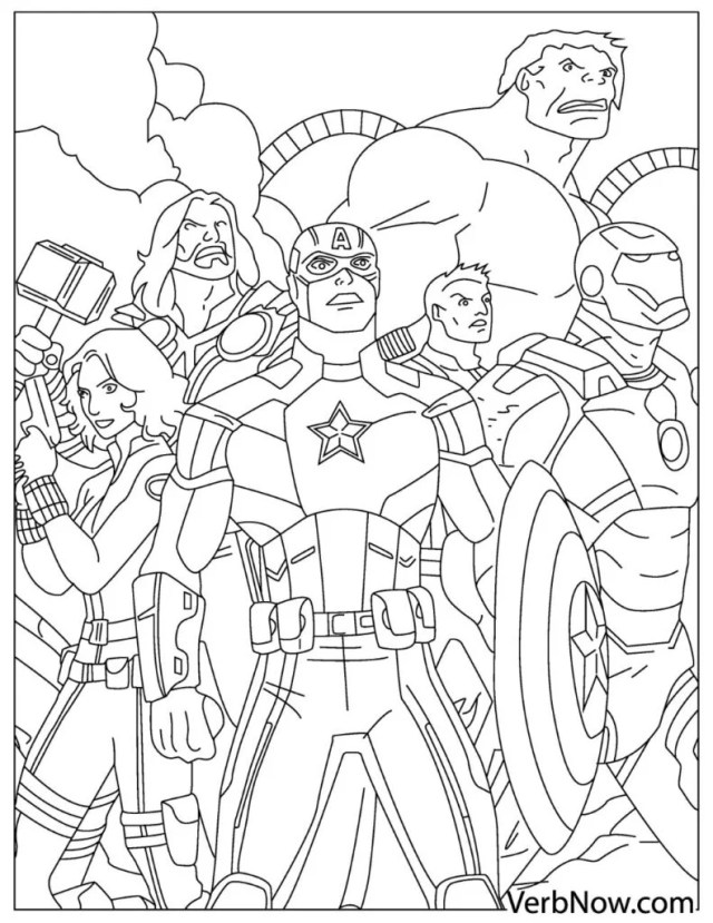 Free AVENGERS Coloring Pages for Download (Printable PDF)