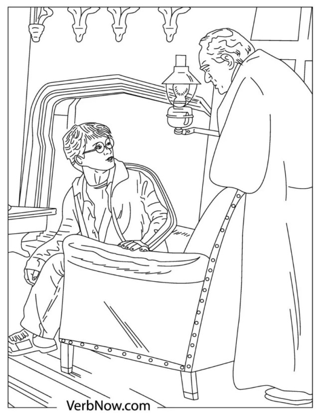 Free Harry Potter Coloring Pages for Download (Printable PDF