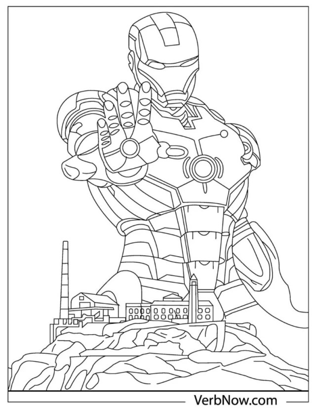 Free IRON MAN Coloring Pages for Download (Printable PDF)