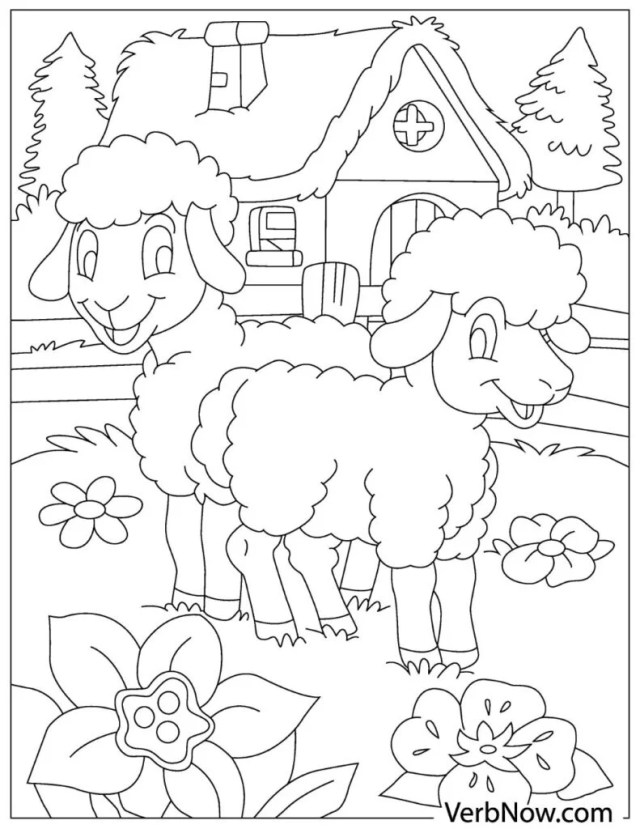 Free SHEEP Coloring Pages for Download (Printable PDF)