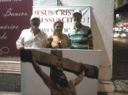 Evangelismo c banners, 21abril, Lagoa Santa