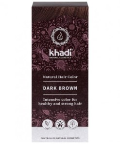 Herbal Color Khadi Castaño Oscuro. 100 Gr