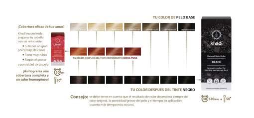 Herbal Color Khadi Negro. 100 Gr