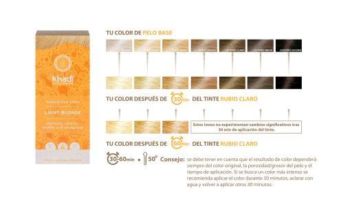 Herbal Color Khadi Rubio Claro. 100 Gr