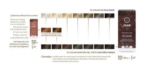 Herbal Color Castaño Ceniza. 100 gr.