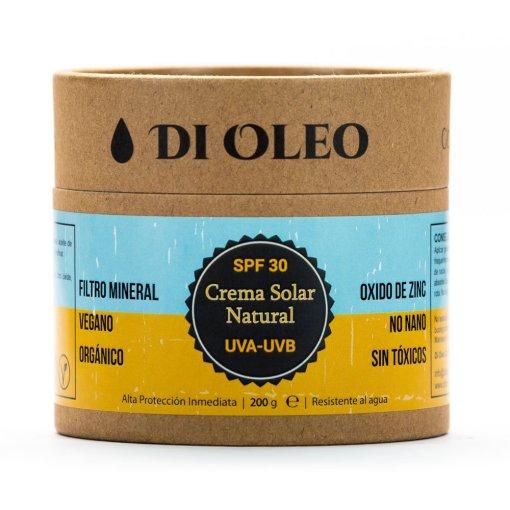 Crema Solar Natural con Oxido de Zinc No Nano SPF 30 - 200 g