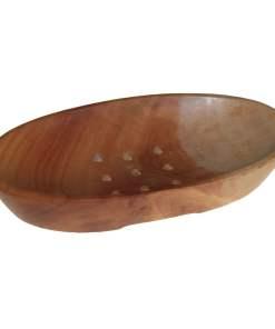 Jabonera clásica de caoba - Ovalada