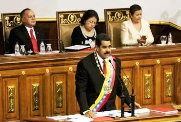 Nicolás Maduro en la AN luego de ser investido como Presidente de la República el pasado 19 de abril / AVN