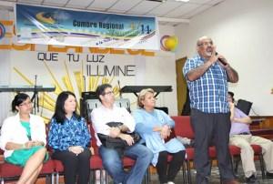Conferencistas del Movimiento 4/14 en la sesión de preguntas y respuestas / VyV