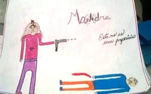 El dibujo de la niña que quiere ser malandra cuando crezca, ha sido compartido miles de veces a través de las redes sociales