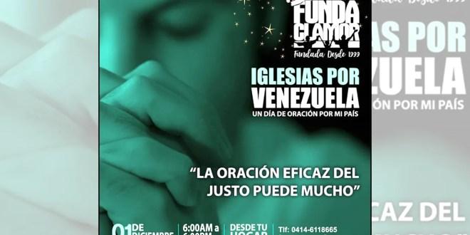 Un día de oración por Venezuela, organiza Fundaclamor