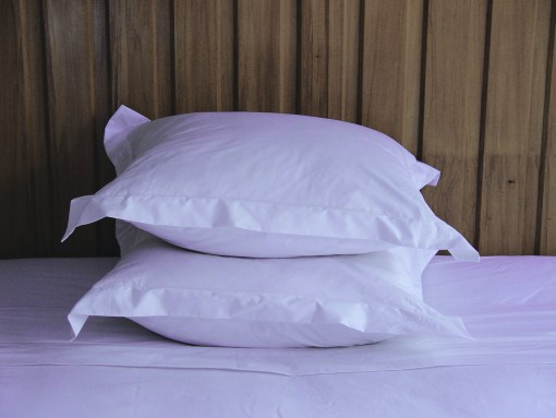 piled flanged pillowcases