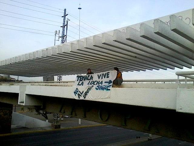 Otra de las mantas que se pudieron ver hoy en Guadalajara. Imagen: Cortesía